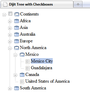 Step 6 Dijit Tree without checkbox